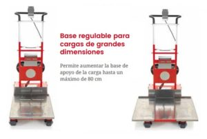Base regulable para cargas de grandes dimensiones Domino Automatic