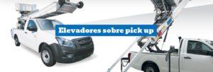CEM Elevadores mudanzas sobre pickup