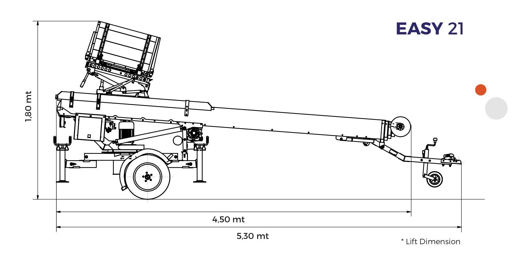 PAUS Easy 18 – 21 – 24 metros