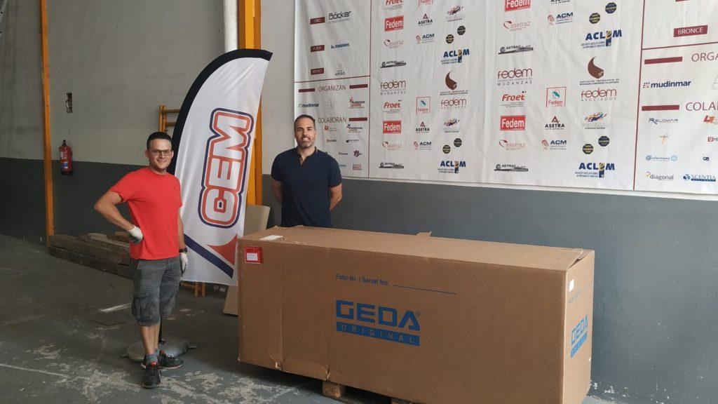 CEM entrega elevador GEDA SOLARLIFT a Rioma Redes de Denia Alicante