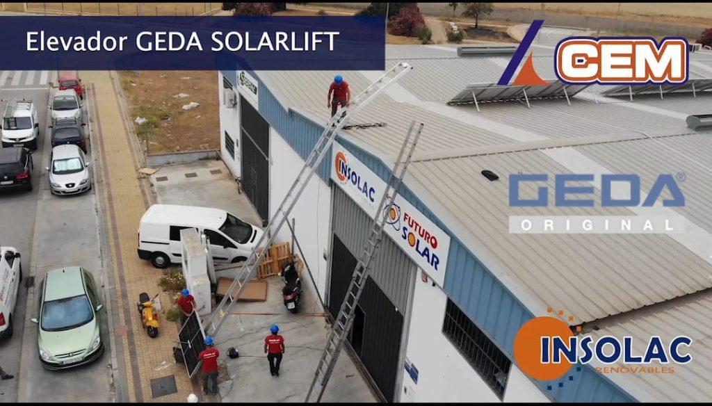 CEM entrega elevador GEDA SOLAR LIFT en SEVILLA