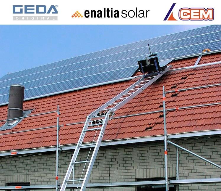 CEM inicia 2021 con la entrega de un elevador GEDA Solar Lift en Sevilla a la empresa Enaltia Solar