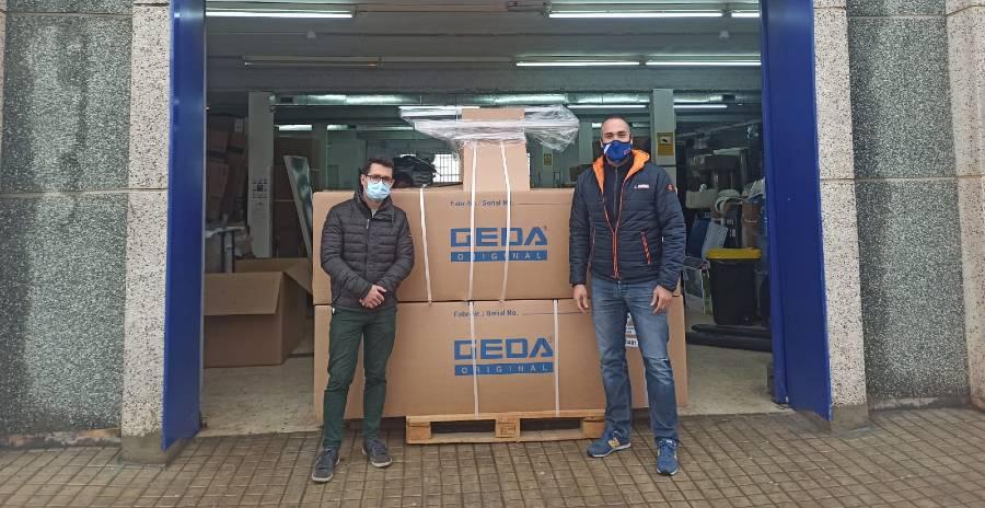 CEM entrega cuatro nuevos GEDA Battery Ladder Lift en Valencia